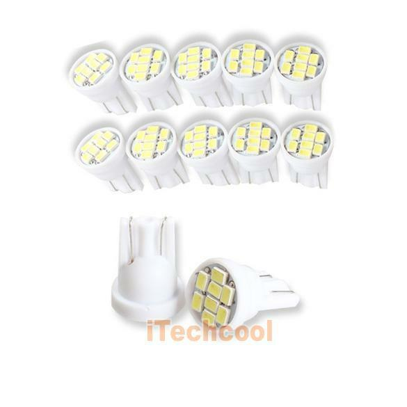 10 x T10 Pure White 8 SMD LED Car Side Wedge Tail Light Bulb 2825 194 W5W