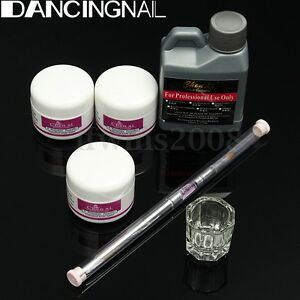Acrylique-Liquide-Poudre-Ongle-Resine-Base-Pinceau-Brosse-Manucure-Nail-Art