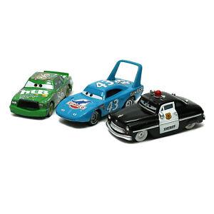 3-Pack-Mattel-Disney-Pixar-Cars-King-Sheriff-Chick-Hicks-1-55-Diecast-Toy-Loose