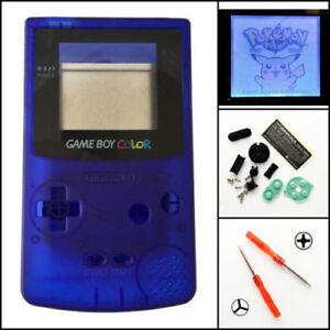 Details About Gbc Nintendo Game Boy Color Frontlit Frontlight Front Light Mod Kit Clear Blue