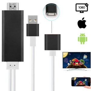 HDMI Mirroring Cable Phone to TV HDTV Adapter 1080P HD For iPhone Xs/8/7 Samsung