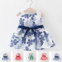 Summer Kids Baby Girls Princess Tutu Dress Party Wedding Gown Communion Clothes