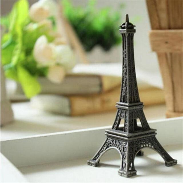 Vintage Bronze Paris Eiffel Tower Statue Sculpture Paris Decor Wedding Supply PE