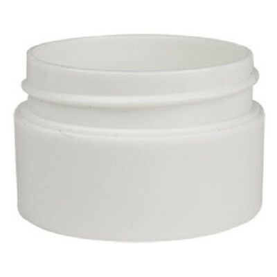 200x 20g White Plastic Lip Balm Small Sample Cosmetic Jars Container + White Cap