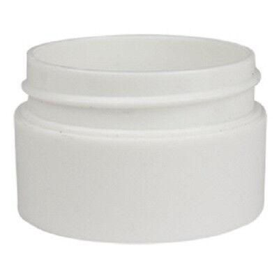200x 20g White Plastic Lip Balm Small Sample Cosmetic Jars Container + White Cap