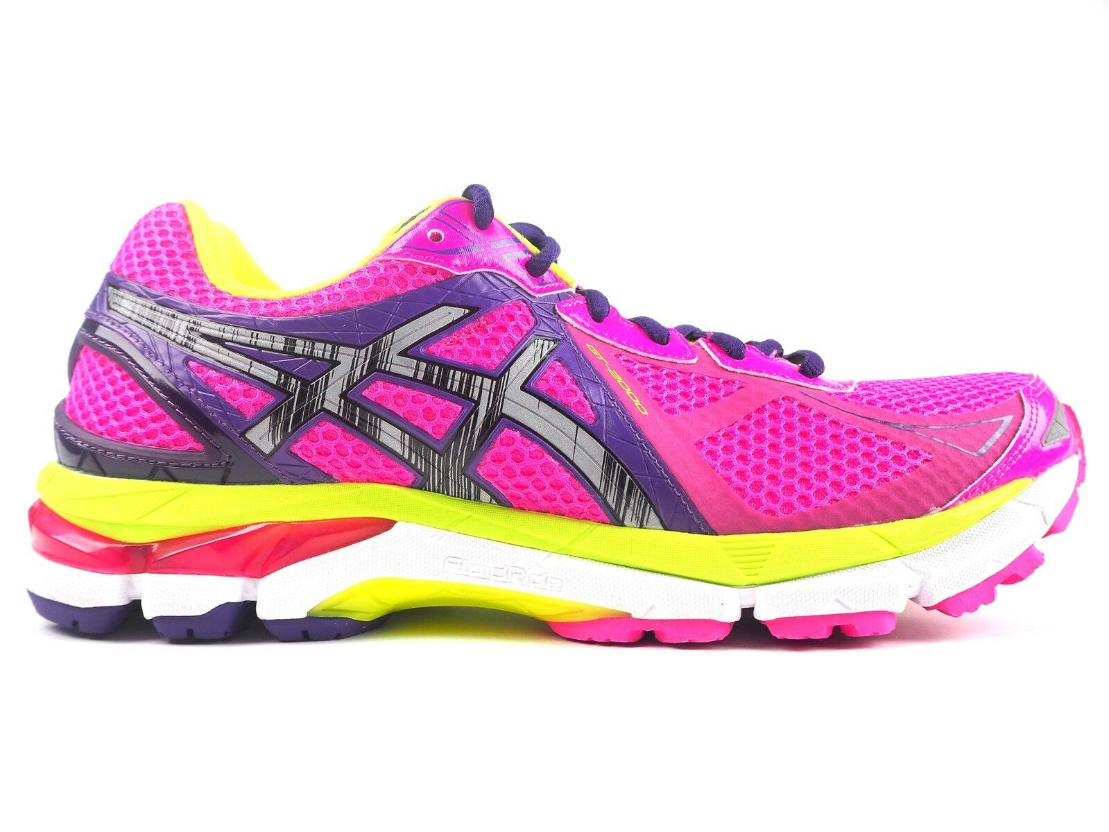 Womens Asics Gel 2000 3 Lite Show T550Q 3593 Lace Up Pink Running Mesh Trainers