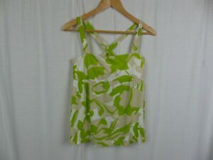 J-Crew-Womens-Printed-Tank-Top-Criss-Cross-Straps-Sleeveless-Shirt-Cotton-Medium
