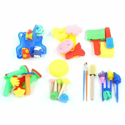 Kids Painting Brush Sponge Paint Brushes Tool Toy Set Children Toddler Drawing