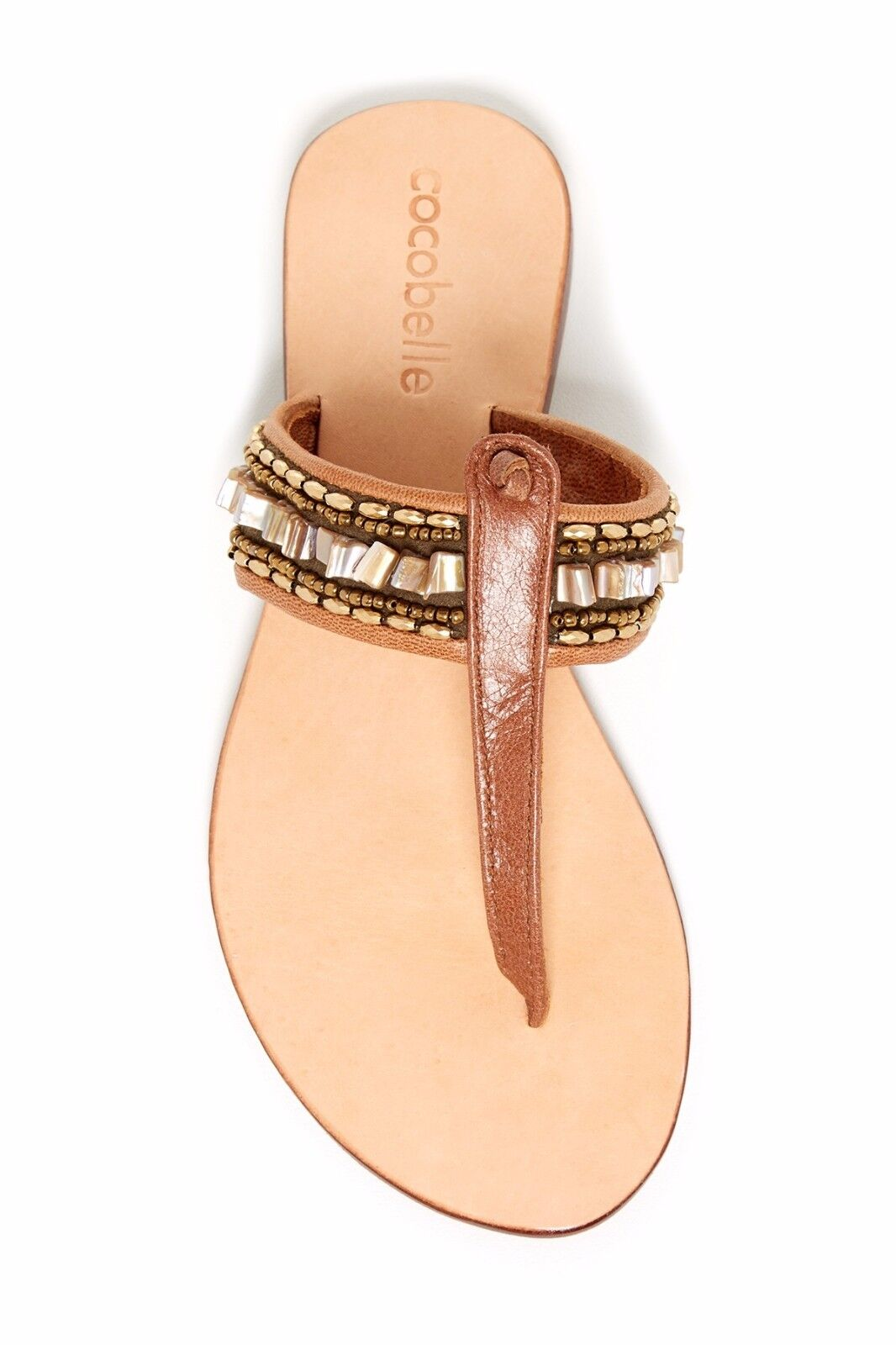 New Cocobelle Sunrise Natural  Sandals hand made  size 9