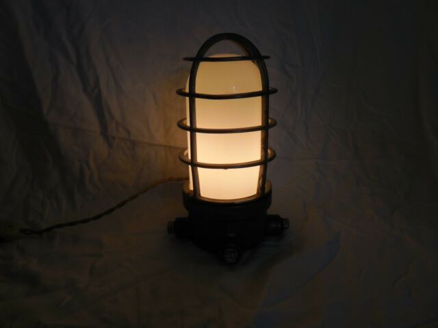 Vintage Industrial Crouse-Hinds Condulet Explosion Proof Desk Lamp Steampunk