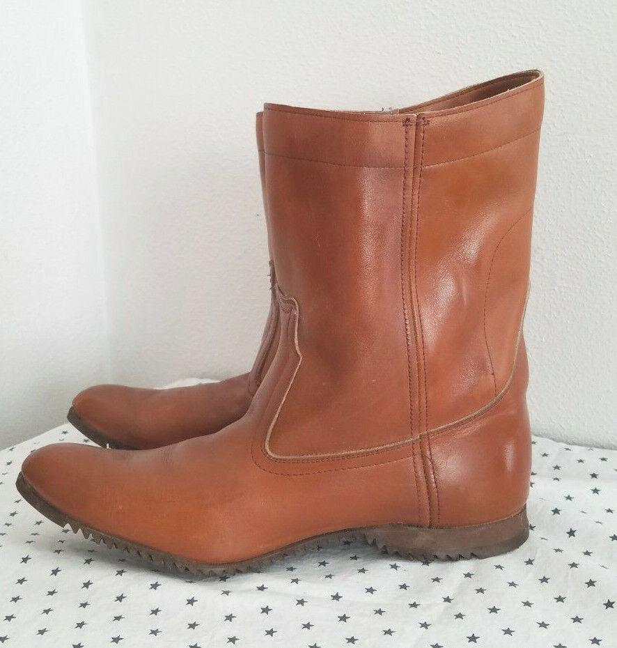 VTG* 1960s* Frye boots* Western* Pull on* size 8N* pre label* Biltrite soles*