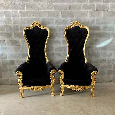 Two Unique French Baroque Chairs With High Backs | EBay