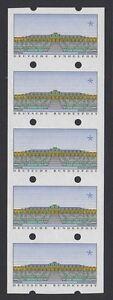 Briefmarken Atm 2 ** Leerfelder Im Fünferstreifen Ohne Wertziffern,eine Marke Mit Zählnummer Mit Einem LangjäHrigen Ruf