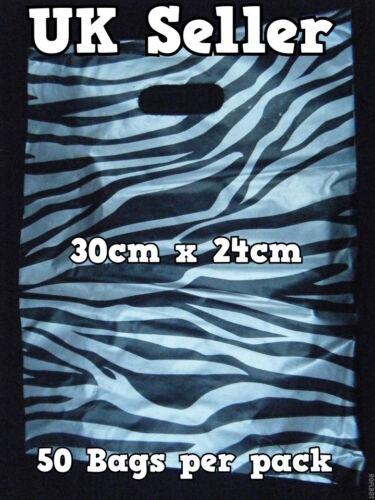 45 de qualité moyenne argent zébré imprimé animal carrier sacs 30cm 24cm vendeur britannique