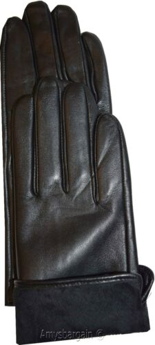 Leather gloves Dress Gloves Warm Gloves. Woman/'s Leather Black winter Gloves