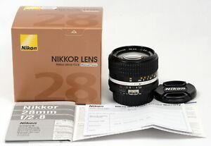 Nikon-NIKKOR-28mm-f-2-8-039-SIC-039-Ai-S-Manual-Focus-039-CRC-039-Lens-Brand-New-In-Box