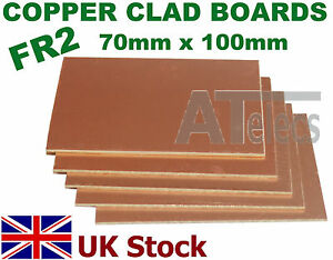 Copper-Clad-Boards-Single-Sided-FR2-70mm-x-100mm-for-PCB-Artwork-UK-Stock