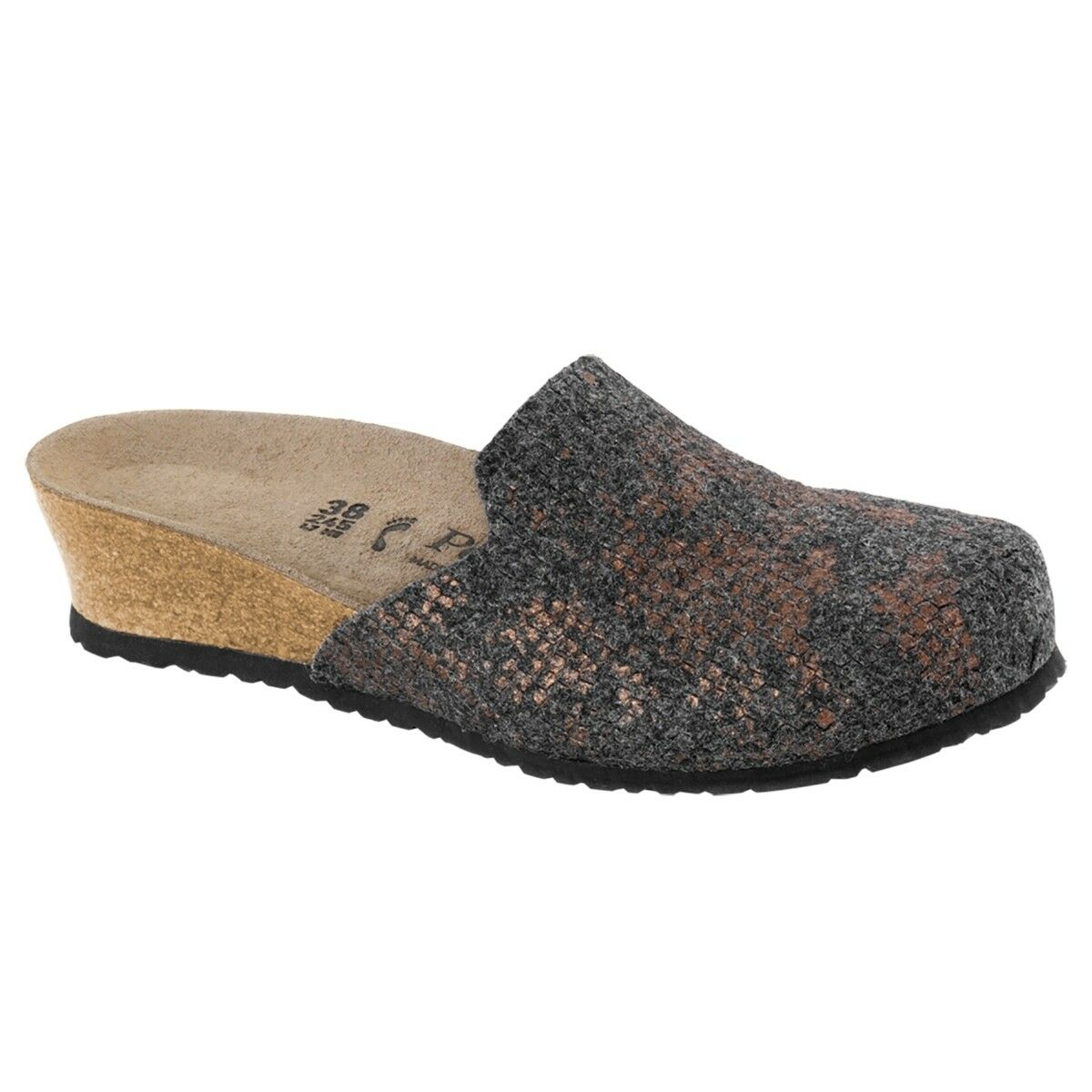 Birkenstock Schuhe Papillio Lucy Wollfilz Clog Schuhe Birkenstock anthracite Weite schmal 1007075 56dd7b