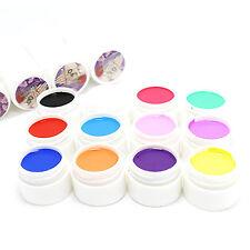 WOW 12 Mix Colors Nail Art Tips UV Gel Powder Dust 3D DIY Decoration Set Kit New