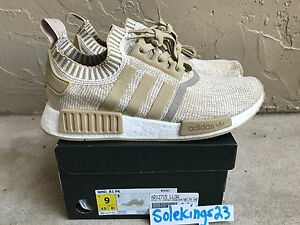 ADIDAS-NMD-R1-PK-PRIMEKNIT-LINEN-TAN-CREAM-OFF-WHITE-KHAKI-BY1912-SZ-7-5-13-MEN