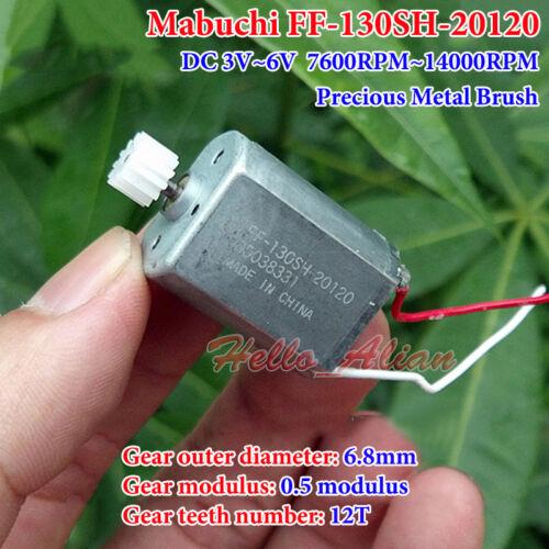 MABUCHI FF-130SH DC 3V~6V 15500RPM Precious Metal Brush Mini 130 Motor DIY Toy
