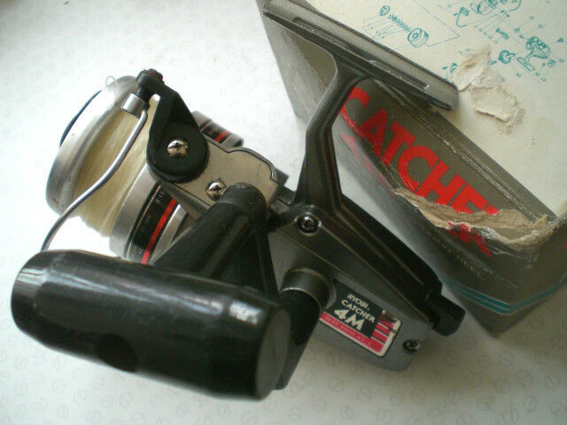 A VINTAGE BOXED RYOBI CATCHER 4M FIXED SPOOL LARGE  SPINNING REEL RETRO 1980'S  offering store