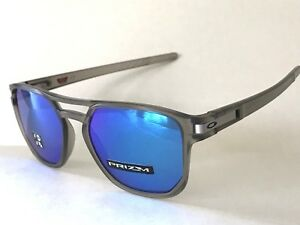 23ab0a5028 NEW OAKLEY LATCH BETA Matte Grey Ink Prizm Sapphire Polarized 9436 ...