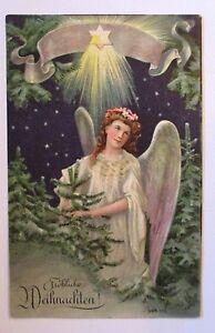 034-weihnachten-engel-stern-tannen-034-1908-praegekarte-38448