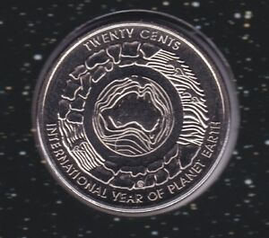 2008-Australia-Planet-Earth-20-Twenty-Cent-UNC-Uncirculated-Coin-ex-UNC-Set