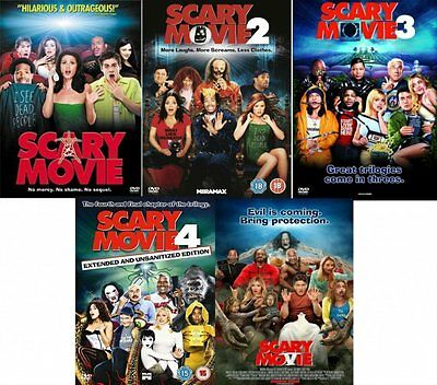 Scary Movie 1 5 Complete Dvd Collection Part 1 2 3 4 5 All Film Original Uk Rele 782597166832 Ebay
