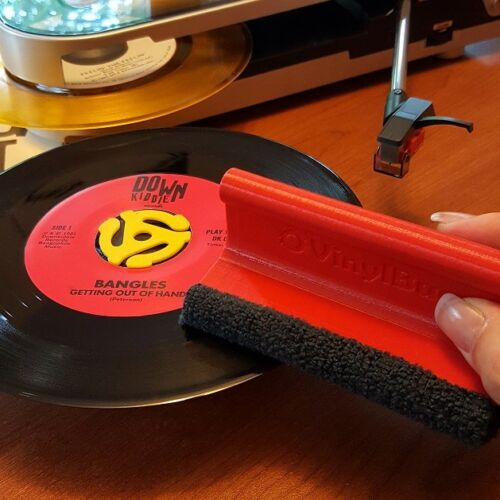 Vinyl Record Cleaning System Brush with replaceable microfiber VinylBug Solo
