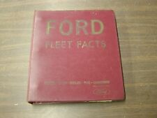 OEM Ford Dealers 1966 Facts Book Mustang Fairlane Galaxie Thunderbird Falcon +