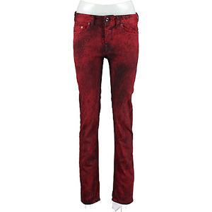 DIESEL-BLACK-GOLD-Red-Distressed-Slim-Fit-Jeans