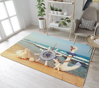 Bedroom Carpet Living Room Area Rug Floor Mat Nautical Anchor Memory Foam Mat