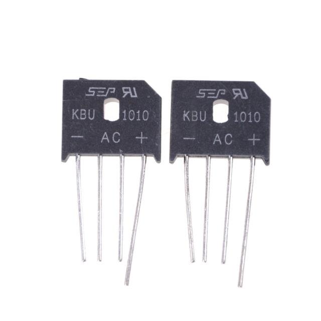 2PCS KBU1010 10A 1000V Single Phases Diode Bridge Rectifier BR