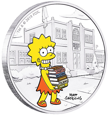 IN STOCK 2019 The Simpsons Marge Simpson 1oz $1 Silver 99.99/% Dollar Proof Coin