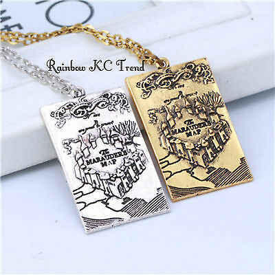 Harry Potter the Marauder's Map Pendant Necklace Harry Potter Necklace