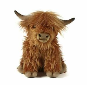 Living Nature Highland Cow with Sound Stuffed Animal Toy, Large - Brown