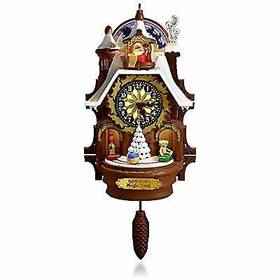 Hallmark 2015 Santa's Magic Cuckoo Clock  Magic Cord Ornament