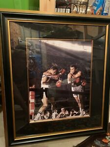 Ken-Norton-Authentic-Signed-Framed-picture-with-Muhammad-Ali-Boxing-AUTHENTIC