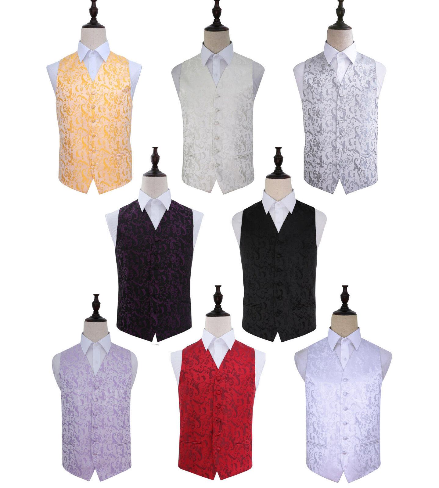 Men's Passion Wedding Groom Waistcoat, Cravat & Hankie Set - Size 36