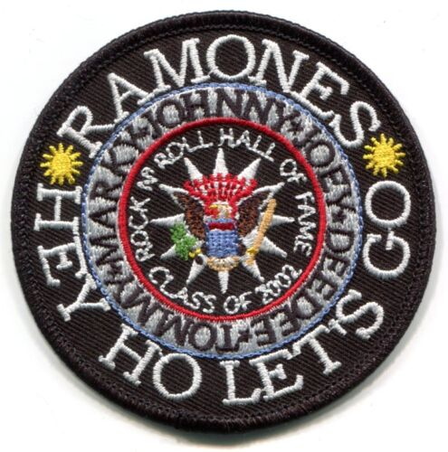 joey deedee RAMONES hey ho let/'s go EMBROIDERED IRON-ON PATCH **FREE SHIPPING**