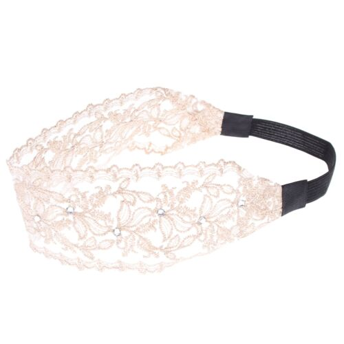 Spitzenstoff Haarband Stirnband Strass Kopfband Haar Headband Hair Braided