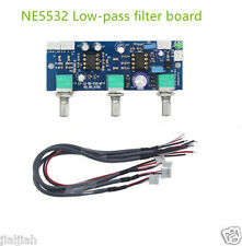 Heiß NE5532 Subwoofer Low-pass Filter 2.1CH Vorverstärker Preamp Board DC12-24V