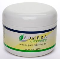 3 -8 Oz.jars Of Sombra Cool Therapy Pain Relieving Gel( 3-pack ) (free Shipping)