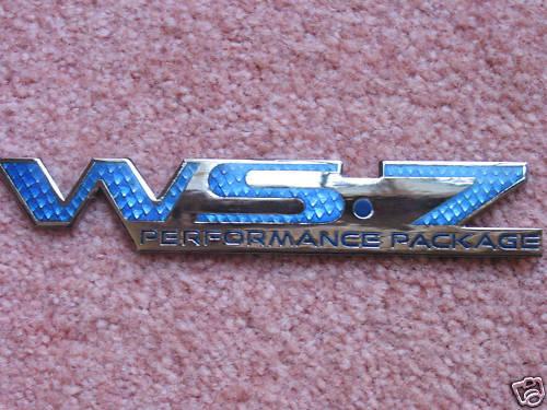 1 NEW Pontiac Trans Am Blue WS7 Emblem