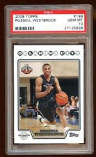 PSA 10 RUSSELL WESTBROOK 2008 TOPPS ROOKIE RC SP #199  THUNDERS  POP 36   RARE