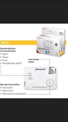 8 X Honeywell Xc70 Monossido Di Carbonio Allarme Rilevatore Di X-series 7 Anno Unità Sigillata- Prestazioni Affidabili