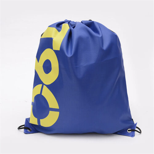 Drawstring Bag Sack Sports Gym Swimming Travel School Casual PE Pouch Backpack