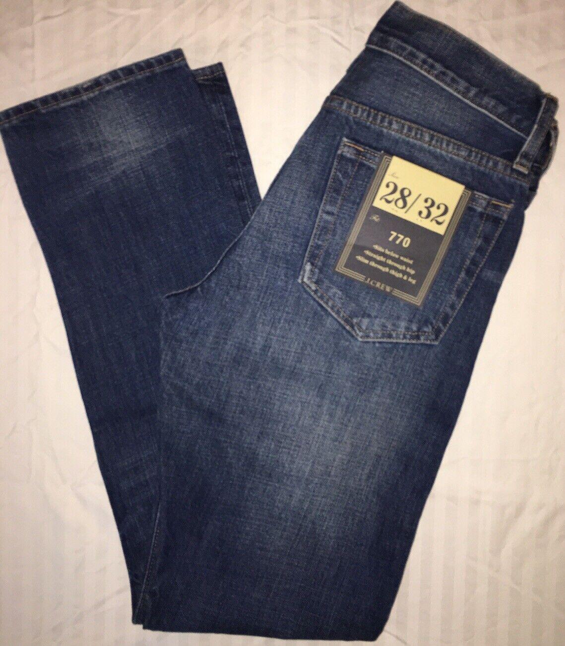 J Crew Jeans 28 32 770 a0656 Vintage Light Wash  NWT VLW